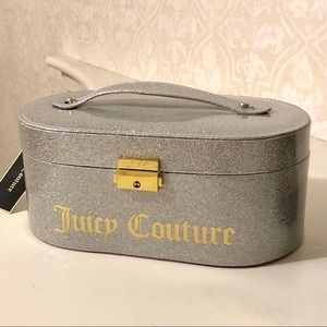 Juicy Couture Silver Glitter Sparkle Jewelry Box